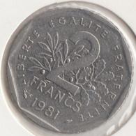 @Y@   Frankrijk   2  Franc  1981   (4740 ) - Frankreich
