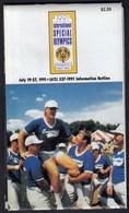 USA United States Minneapolis 1991 / VIII Th International Special Olympics, Disabled / Brochure, Plan - Olympics