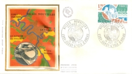 ENVELOPPE PREMIER JOUR 10/1975  VILLES NOUVELLES EVRY CERCY L'ISLE D'ABEAU - FDC