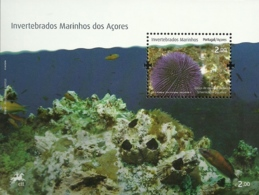 Portugal  Azores Açores 2010 Marine Invertebrates - Sphaerechinus Granularis - Souvenir Sheet MNH - Crustaceans