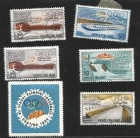 O) 1956 ITALY, VII WINTER OLYMPIC GAMES AT CORTINA D'AMPEZZO-STADIUMS AT CORTINA-SCT 705-708, ICE RACING LAKE MISURINA-I - 1946-60: Mint/hinged