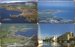 Isle Of Man - GPT, Landscapes Of IOM, Set Four Cards, 5IOMA/B/C/D, Landscapes, 1989, Used As Scan - Isla De Man