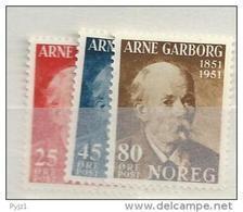 1951 MNH Norwegen, Norway, Norge, Postfris - Nuovi