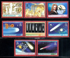 """Montserrat       """"Halle'y Comet""""      Set     SC# 605-12    MNH - Montserrat"""