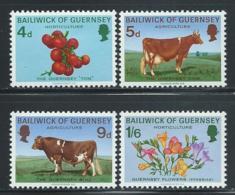 "Guernsey       ""Cows""    Set    SC# 33-36    MNH - Guernsey"