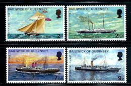 "Guernsey       ""Mail Boats""    Set    SC# 64-67    MNH - Guernsey"