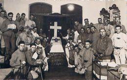 Cpa Carte Photo 156e Régiment D' Infanterie - Enterrement Du Père 200, Classe 1927 / 02, 1ère Cie - Personnages