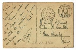 """Cachet """"Tresor Et Postes *207* Circulé 1924 Sur CP (Blick Vom Drachenfels Rheinab) Provient D'un Dépliant - Marcophilie (Lettres)"""