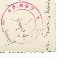 """Cachet Double Couronne """"S.P. 87.667 - A.F.N."""" Circ 1959 CP Maison Carrée, Eglise Sacré-Coeur - Marcophilie (Lettres)"""