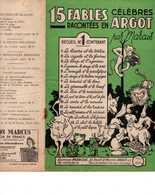 40 60 PARTITION MONOLOGUES FABLES RÉCITS EN ARGOT MARCUS 1947 ILL PIERRE ABRIOUX - Autres