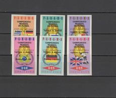 Panama 1966 Football Soccer World Cup Set Of 6 Imperf. With Winners Overprint MNH -scarce- - 1966 – Inglaterra