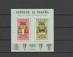 Panama 1966 Football Soccer World Cup S/s With Winners Overprint MNH -scarce- - 1966 – Inglaterra
