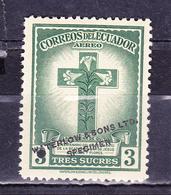 "ECUADOR 1946 PROOF WATERLOW TRICENTENARY DEATH OF BLESSED MARIANA DE JESUS FLORES Y PAREDES ""LILY OF QUITO"" MNH SC# C164 - Equateur"