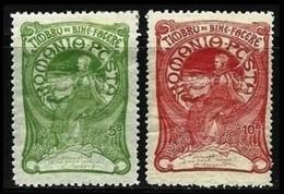 ROMANIA 1905 - BENEFICENZA I - N. 156 E 158 * - Cat. 42,50 € - Lotto N. 1766 - 1881-1918: Carol I