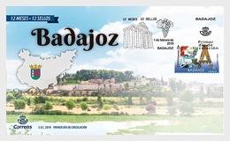 H01 Spain 2019 12 Months 12 Stamps - Badajoz  FDC - 1931-Aujourd'hui: II. République - ....Juan Carlos I