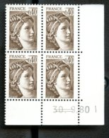 Lot C902 France Coin Daté Sabine N°2118 (**) - Dated Corners