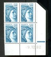Lot C982 France Coin Daté Sabine N°2123 (**) - Dated Corners