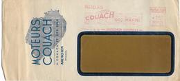 """C2148, Au 21-08-53 """"Moteurs COUACH 100% MARINS"""" ARCACHON - EMA (Empreintes Machines à Affranchir)"""