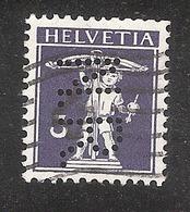 Perfin/perforé/lochung Switzerland No YT135 Ou 129? 1909-1910 The Son Of W. Tell  N.R.  National - Registrierkassen - Perforés