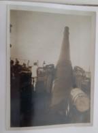 """1918+1°GM FRONTE Del PIAVE-CANNONE INGLESE Da 15""""su Una CHIATTA Sul FIUME PIAVE+originale FOTO B/N-O458 - Krieg, Militär"""