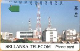 Sri Lanka (Ceylon) - LK-SLT-ANR-0007A, Anritsu, Telecom Building, Rs.500, Used - Sri Lanka (Ceylon)