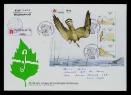 "Eagles ""águia Pesqueira"" (European NATURE Protection Year) Animals Abetarda Birds Portugal Reptiles Faune S/S Fdc #9904 - Aigles & Rapaces Diurnes"