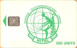 Nigeria - NG-NIT-0013, Nitel), Green Logo 500 (CM: SC6), 500 U, Used As Scan - Nigeria