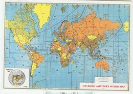 """THE RADIO AMATEUR'S WORLD MAP"", NUOVA,NEW, - Radio Amatoriale"