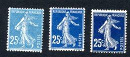 Lot Z832 Type Semeuse N°140 Bleu Noir - 1906-38 Sower - Cameo