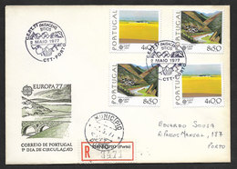 Portugal Europa CEPT FDC 1977 Recommandée Cachet Premier Jour Porto R FDC Oporto First Day Postmark - Europa-CEPT