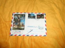 ENVELOPPE UNIQUEMENT DE 1989../ POLYNESIE FRANCAISE TAHITI...CACHETS + TIMBRES X2 - Frans-Polynesië