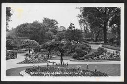 Great Britain - Croydon Town Hall Gardens - Real Photo Posted 1947 - Surrey