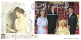 UK 2000 Mi. Block 9 FDC Silk, Hundredth Birthday Of The Queen Mother Elisabeth - FDC