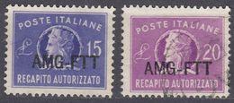 TRIESTE ZONA A - 1949/1952 - Recapito Autorizzato, Serie Completa Di 2 Valori Usati: Yvert 9/10. - 7. Triest