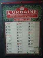 ALMANACH  CALENDRIER  1908 EFFEUILLER L'URBAINE ,Compagnie Anonyme D'Assurances Sur La Vie Humaine- - Calendriers