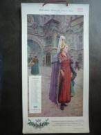 ALMANACH  CALENDRIER  1910 L'URBAINE VIE,  12 COSTUMES FRANCAIS, Illustrateur  Maurice LELOIR ,  Devambez à Paris - Calendriers