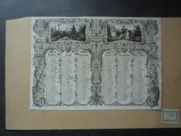 ALMANACH  CALENDRIER  1835- 2 SEMESTRIELS -ARABUESQUE Et ALLEGORIE PAYSANNE  Espoir , Foi, Bonheur  (Sampierdaren  édit. - Calendriers