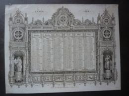 ALMANACH  CALENDRIER  1836-  SEMESTRIEL -ARABESQUE Et ALLEGORIE DE RHETHORIQUE Edit Marcilly Libraire à Paris - Calendriers