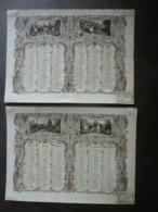 ALMANACH  CALENDRIER  1836- 2 SEMESTRIELS -ARABUESQUE Et ALLEGORIE PAYSANNE  Espoir , Foi, Bonheur  (Sampierdaren  édit. - Calendriers
