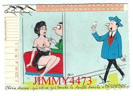 CPM Dentelées - HUMOUR - Chérie Devine Qui Est-ce Qui Touche Le Doublé Dans Le DESORDRE - Illust. Alex - Edit. M. VAYSSE - Humour