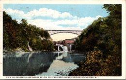 New York Rochester Genesee River Gorge Below Driving Park Avenue Bridge 1913 - Rochester
