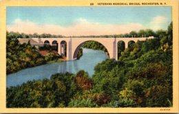 New York Rochester Veterans Memorial Bridge Curteich - Rochester