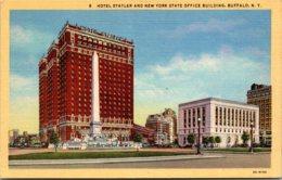 New York Buffalo Hotel Statler And New York State Office Building Curteich - Buffalo