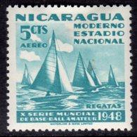NICARAGUA - 1949 YACHTING 5c SHIP AIR STAMP FINE MINT MM * SG1137 - Nicaragua
