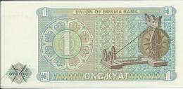 BIRMANIE  -  MYANMAR    1  Kyat  Nd(1972)  -- UNC -- - Myanmar