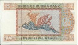 BIRMANIE  -  MYANMAR   25  Kyats  Nd(1972)  -- UNC -- - Myanmar