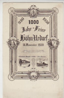 930 - 1930 1000Jahr-Feier HÖHN-URDORF - Elektrizitätswerk Westerwald Bei Höhn - Grube Alexandria - Westerburg
