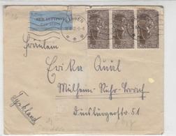 Luftpostbrief Aus BERGEN 18.6.42 (vom Schiff) Nach Mülheim/Ruhr Deutschland - Zensur Brief War Gefaltet - Norway