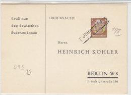 Köhlerkarten - JOHNSDORF - ENGL...N - Occupation 1938-45