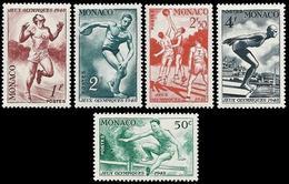 ** Monaco - 1948 - Olympic Games 1948 - Mi. 339-43 - Ete 1948: Londres